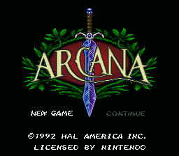 Arcana Title Screen