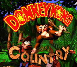 Donkey Kong Country Title Screen