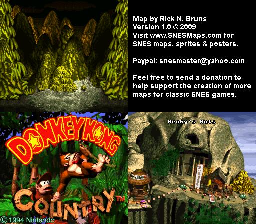 Donkey Kong Country - Level 12 - Necky's Nuts - Super Nintendo SNES on