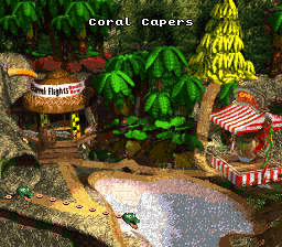 Donkey Kong Country Map Selection - Labeled Maps on