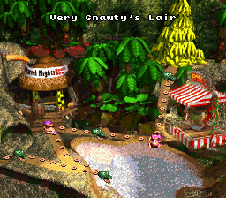 Donkey Kong Country Map Selection - Labeled Maps
