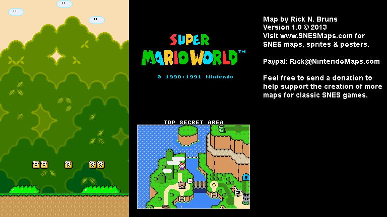 Mario world top secret area super nintendo snes map bg super mario world top secret area super nintendo snes map bg gumiabroncs Gallery