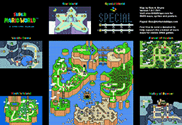 Super Mario World Map Selection - Labeled Maps