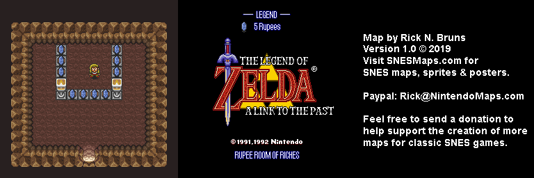 The Legend of Zelda: A Link to the Past - Rupee Room of