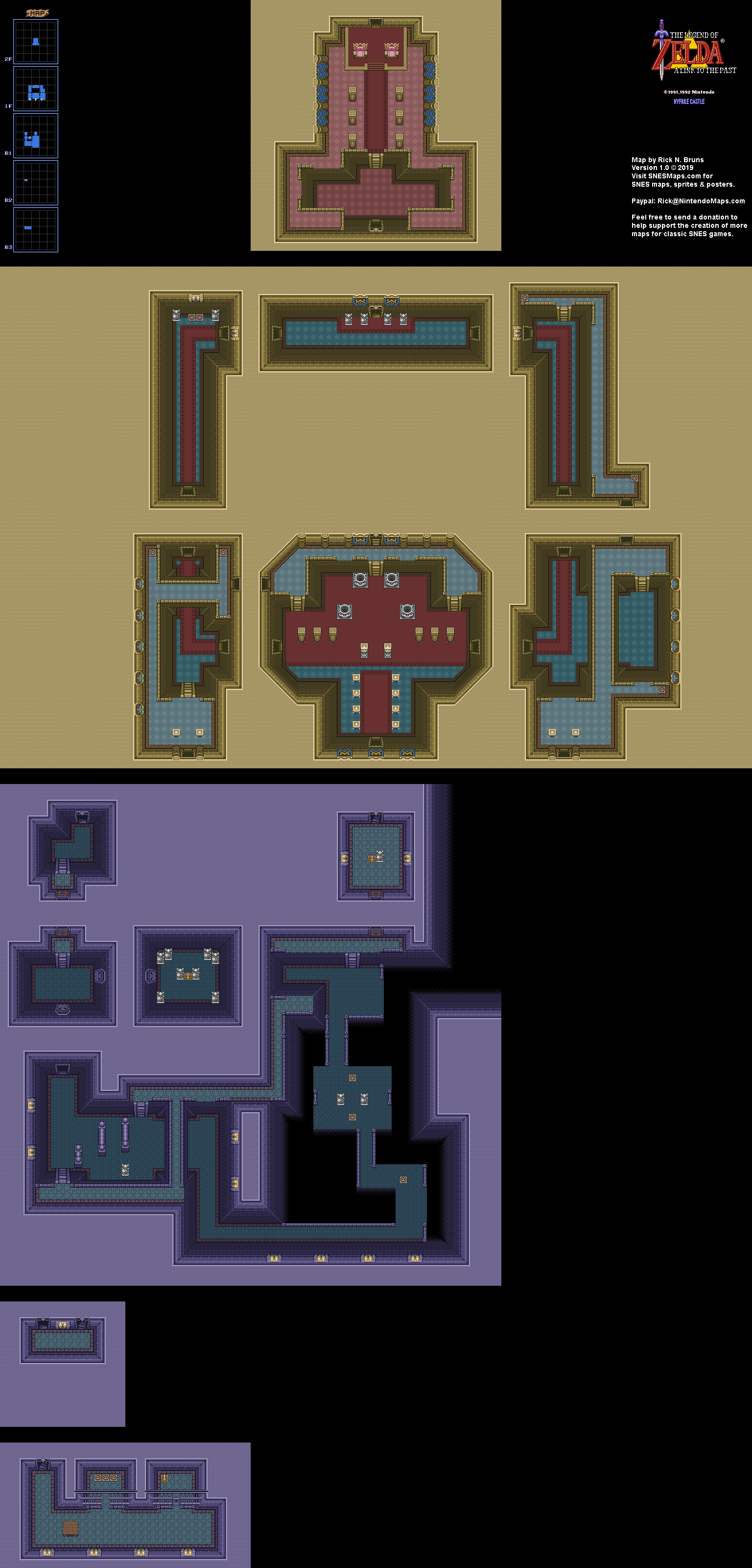 The Legend of Zelda: A Link to the Past - Hyrule Castle Map