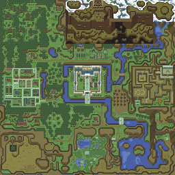 The Legend of Zelda: A Link to the Past - Overworld Map Selection